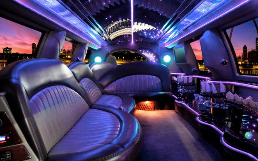 inside prom limousine